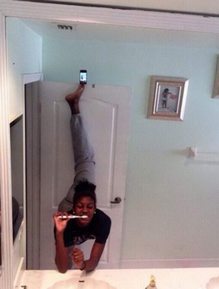 Yaratıcılıkta sınır tanımayan 10 selfie AdoreLoyalwomen via Twitter