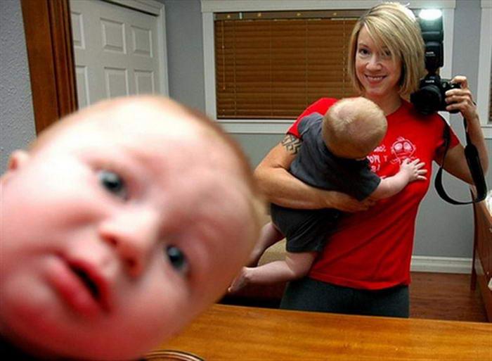 Yaratıcılıkta sınır tanımayan 10 selfie The Baby Photobomb Selfie
